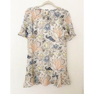 The Loft XXSP Floral Print Sheer Dress